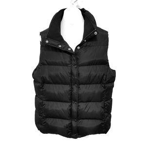 J. Crew Factory down black puffer vest XL